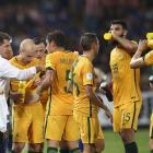 Australia plays its 2018 FIFA World Cup Qualifier against Thailand. Photo: Getty Images