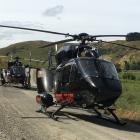 Otago Regional Rescue Helicopters on Switzers Rd near Heriot, the scene of a car crash yesterday...