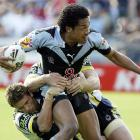 Clinton Toopi in action for the Warriors in 2005. Photo: Getty Images