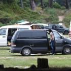 Freedom campers vie for space in the Warrington Domain, north of Dunedin. Large numbers stopping...