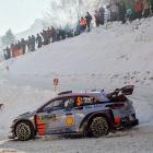 Thierry Neuville and co-driver Nicolas Gilsoul in action at the Monte Carlo Rally. Photo Getty
