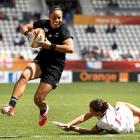 Honey Hireme scores for the Black Ferns during their last World Cup in 2014. Photo: Getty Images