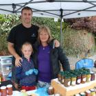 Tuturau Pickles traders Gus and Josie Robinson, and their daughter Amelia (7), of Winton,  show...