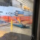 The damaged stanchion at Port Otago's wharf following the visit of the Ovation of the Seas,...