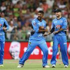 Ish Sodhi celebrates taking the wicket of Carlos Braithwaite for the Adelaide Strikers against...