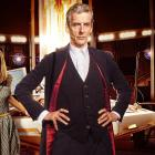 From left former companion Clara Oswald (Jenna Coleman) and the twelfth Doctor (Peter Capaldi)....