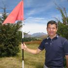 The Hills general manager Brendan Allen on the site of a proposed nine-hole golf course near...