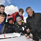 Mattias Coutts (11, back left)) and Blake Dawson (12) and (in front) Will Hadfield (13), Ahzai...