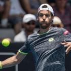 Joao Sousa in action during the ASB Classic. Photo: NZ Herald