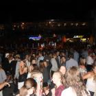 A large group of young people congregate on Ardmore St in Wanaka to celebrate New Year's Eve....