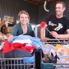 Wanaka Wastebusters shop manager Mathilde Fonteneau and reuse manager Matthew Smith inspect some...