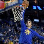 Zaza Pachulia in warm-ups for the Golden State Warriors. Photo: Getty Images