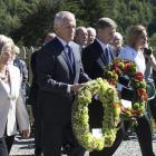 Australian Prime Minister Malcolm Turnbull and his wife, Lucy, and New Zealand Prime Minister...
