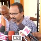 The brother of Srinivas Kuchibhotla, who was shot dead in the incident, talks to media in...