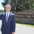 New Dunstan High School principal Reece Goldsmith begins the first week of the school year. Photo...