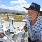 Atmospheric scientist Ben Liley inspects ultraviolet measuring devices at the National Institute of Water and Atmospheric Research station in Lauder. Photo: Jono Edwards.