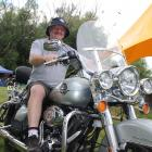 Bikers Rights Organisation New Zealand Otago president Phil ''Scooter'' Scorringe relaxes on a...