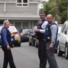 Police investigate the scene at Copeland St, Eden Terrace. Photo: NZ Herald / Jason Oxenham