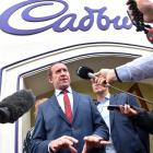Labour leader Andrew Little speaks about the Cadbury closure at the factory's Cumberland St...