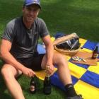 Ben Smith with champagne and Speights before his announcement on his future today. Photo: Facebook/Ben Smith