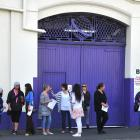 Cadbury Staff  outside the iconic Dunedin Cadburys factory. Photo: ODT.