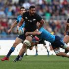 Patrick Tuipulotu in action for the All Blacks against Italy in Rome last year. Photo Getty Images