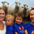 Zoe Leetch, Temulen (2), Tushinbayar (4) and Enkhnasan Chuluunbaatar at the World Shearing and...