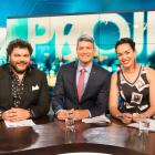 Josh Thomson (left), Jesse Mulligan and Kanoa Lloyd host Three's new current affairs show 'The...