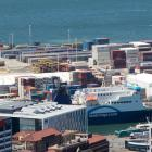 The container port at Wellington's Centreport. Photo NZ Herald/Mark Mitchell