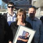 Rhys Middleton's parents Mike Middleton and Judy Richards, with Rhys' brothers Tyler, Ryan, and...