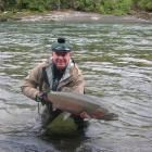Shaun McCann hooks a steelhead trout in Canada. Photo: supplied.