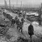 The devastated battlefield on the Western Front: Troops at the Somme relieved from duty. — Otago...