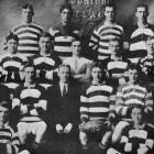 All members of the Southern Football Club's Second Fifteen, which won the junior championship in...