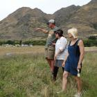 Glendhu Station owners John and Emily McRae and Tuki Festival director Lynne Christie (centre)...