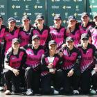 The White Ferns after their win. Photo: Getty Images