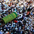 Supporters carry the coffin of Ko Ni, a prominent member of Myanmar's Muslim minority and legal...