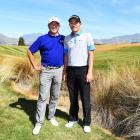 Asian Tour chairman Jimmy Masrin (left) with his son, professional golfer Danny Masrin (24),...