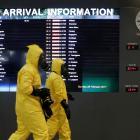 A Hazmat team checks at KLIA2 airport terminal. Photo: Reuters