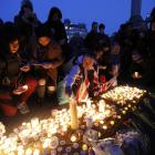 People remember those killed in Khalid Masood's attack. Photo: Reuters
