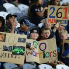 Warriors fans look on before the round three NRL match between the Bulldogs and the Warriors at...