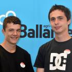 TeenAg national finalists (from left) Levin Coulter (15) and James Scanlan (16), from Tokomairiro...