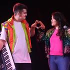 Comedians Joseph Moore and Laura Daniel perform as pop duo Two Hearts for their Dunedin Fringe...