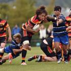 Kaikorai beat Zingari-Richmond 23-9 at Montecillo. Photo: Peter McIntosh