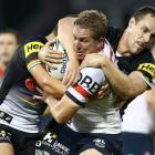 The Roosters defense held up to beat the Panthers. Photo: Getty