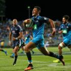 The Blues ran in six tries to beat the Bulls. Photo: Getty