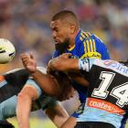 The Eels took a hefty blow from the Sharks. Photo: Getty