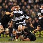 Brian Habana in action for the Barbarians against the All Blacks at Twickenham in December 2009....