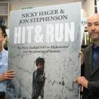"Authors of the book ""Hit & Run"" Nicky Hager (left) and Jon Stephenson Photo: NZ Herald/Mark..."