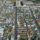An aerial view of part of South Dunedin. Photo: Stephen Jaquiery.