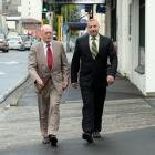 Rowland Woods Legal Ltd managing director Rowland Woods (left) and Dunedin office manager...
